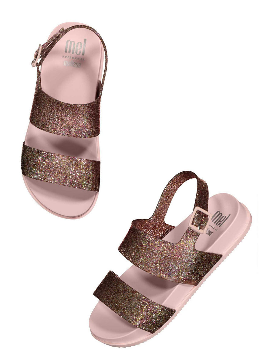Girls Mel by Melissa Cosmic Glitter Sandals