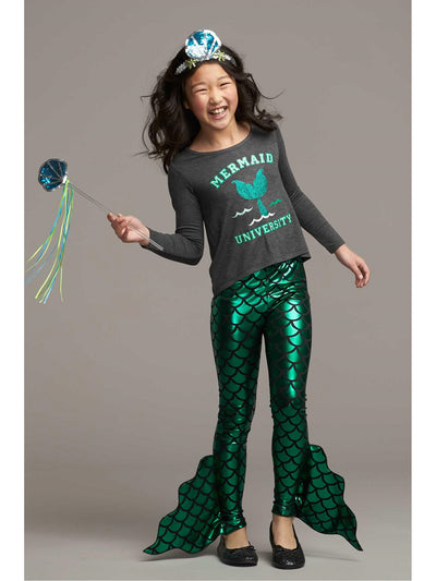 Girls Mermaid Leggings  gre 1