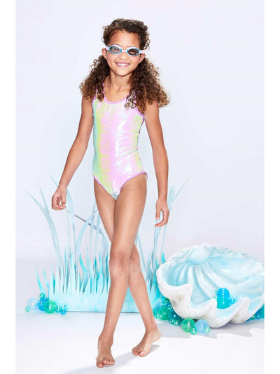 Girls Mermaid Sequin Swimsuit  slpn alt1