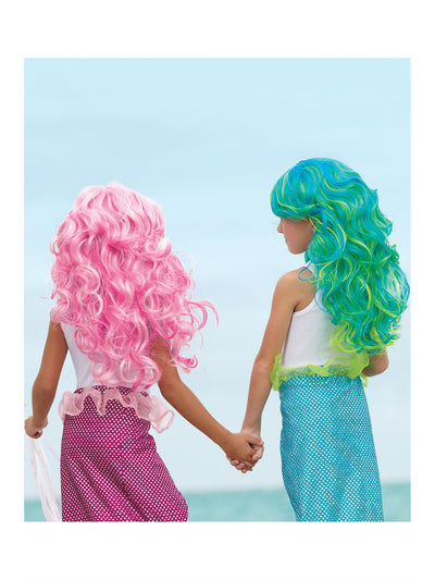 Girls Mermaid Wig  blu alt1