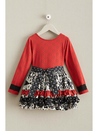 Girls Merrymaker Dress  red alt1