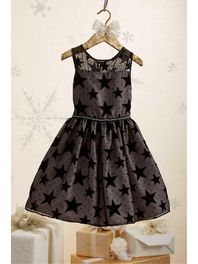 Girls Mesh Star Dress  bla alt2