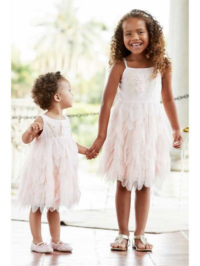 Girls Metallic Embroidered Butterfly Dress  lpi alt1