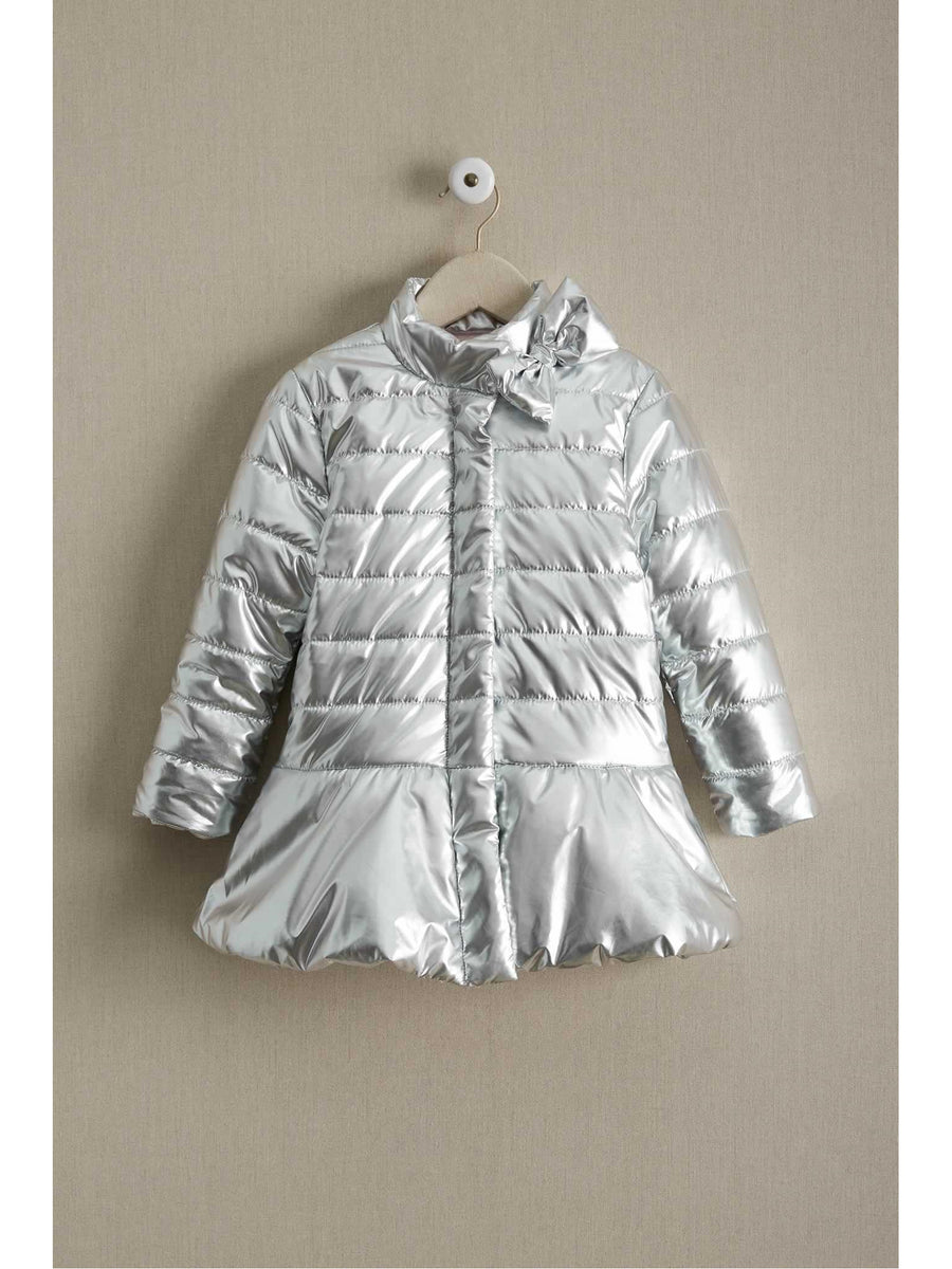 Girls Metallic Puffer Coat