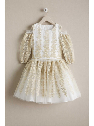 Girls Metallic Trailing Vines Dress