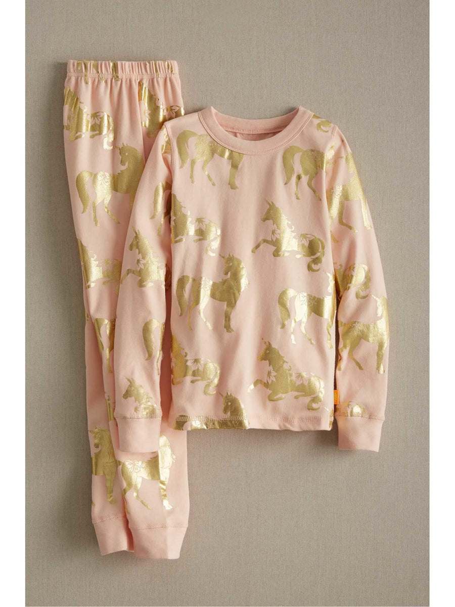 Girls Metallic Unicorn Pj's