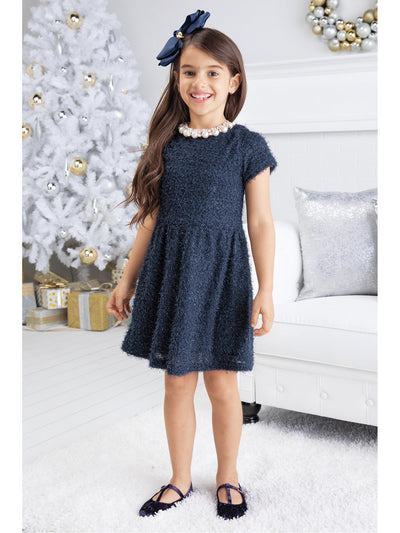Girls Midnight Navy Dress