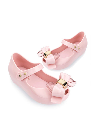Girls Mini Melissa Peep-Toe Mary Janes  lipnk 1