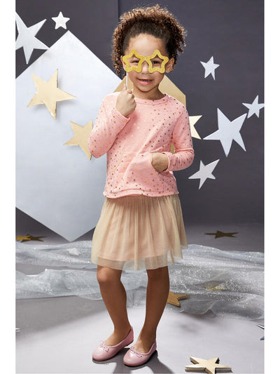 Girls Mini Stars Sweatshirt & Tutu Skirt  blwt alt1