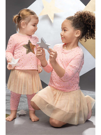 Girls Mini Stars Sweatshirt & Tutu Skirt  blwt alt2