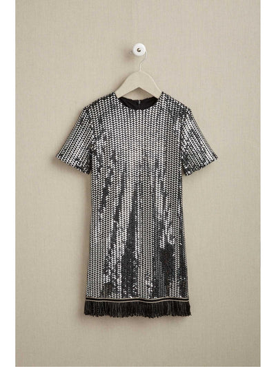 Girls Mod Sequin Dress