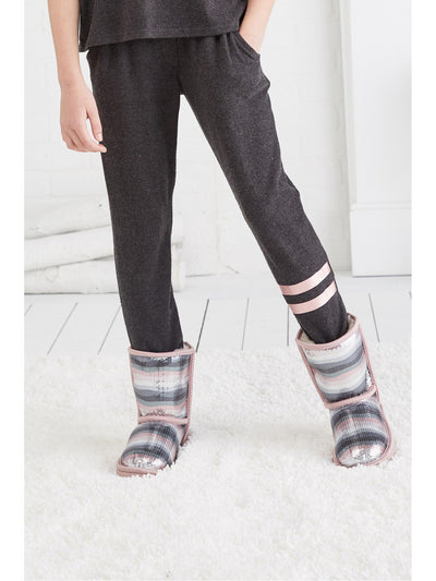 Girls On the Run Striped Joggers