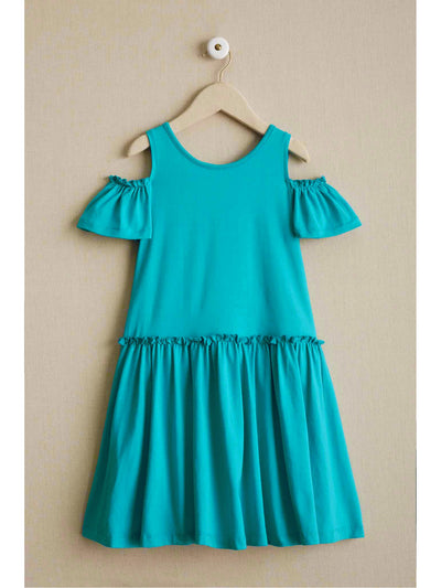Girls Open-Shoulder Knit Dress  tea 1