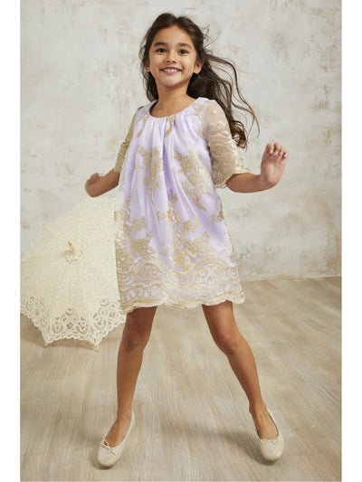 Girls Opulent Dress  lav 1