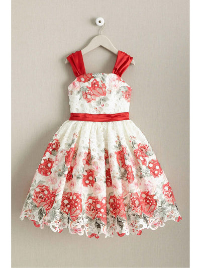 Girls Painted Bouquet Dress
