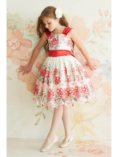 Girls Painted Bouquet Dress  ivo alt1