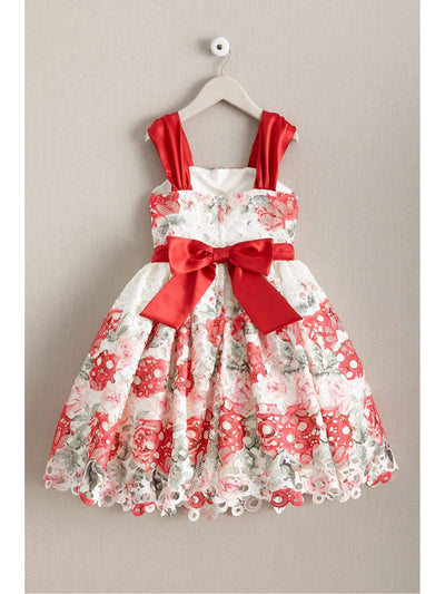 Girls Painted Bouquet Dress  ivo alt2
