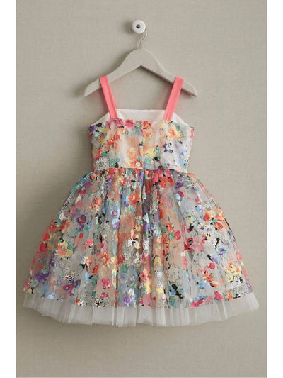 Girls Painted Flowers Dress  mlt alt2