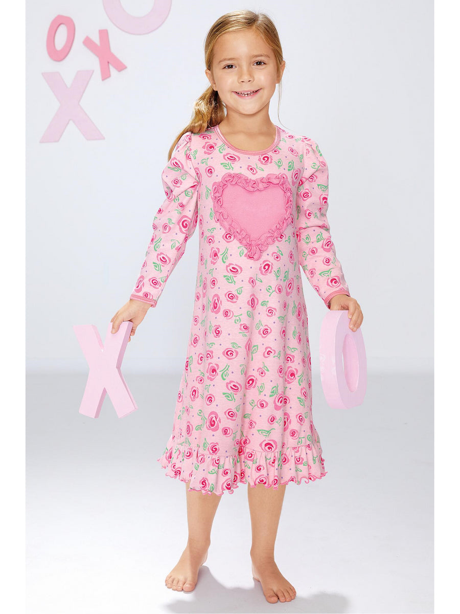 Girls Painted Roses Nightgown