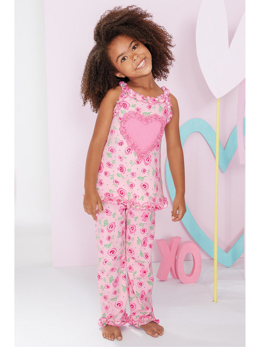 Girls Painted Roses PJ's