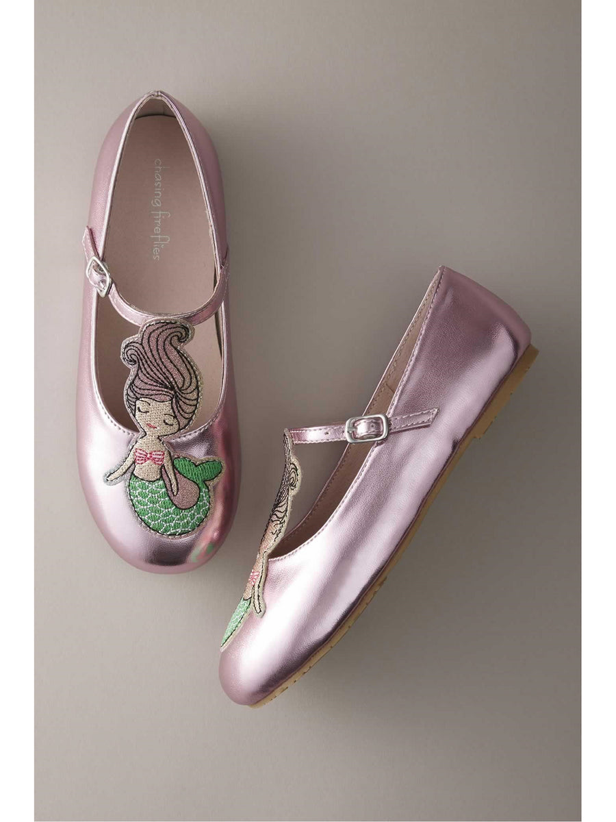 Girls Pastel Mermaid Flats
