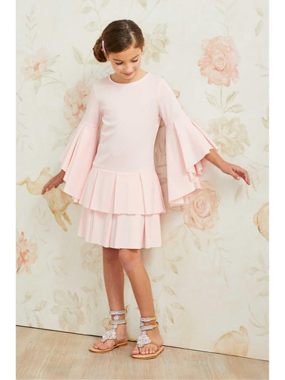 Girls Pastel Pleats Dress