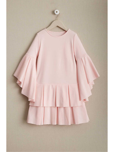 Girls Pastel Pleats Dress  lpi alt1