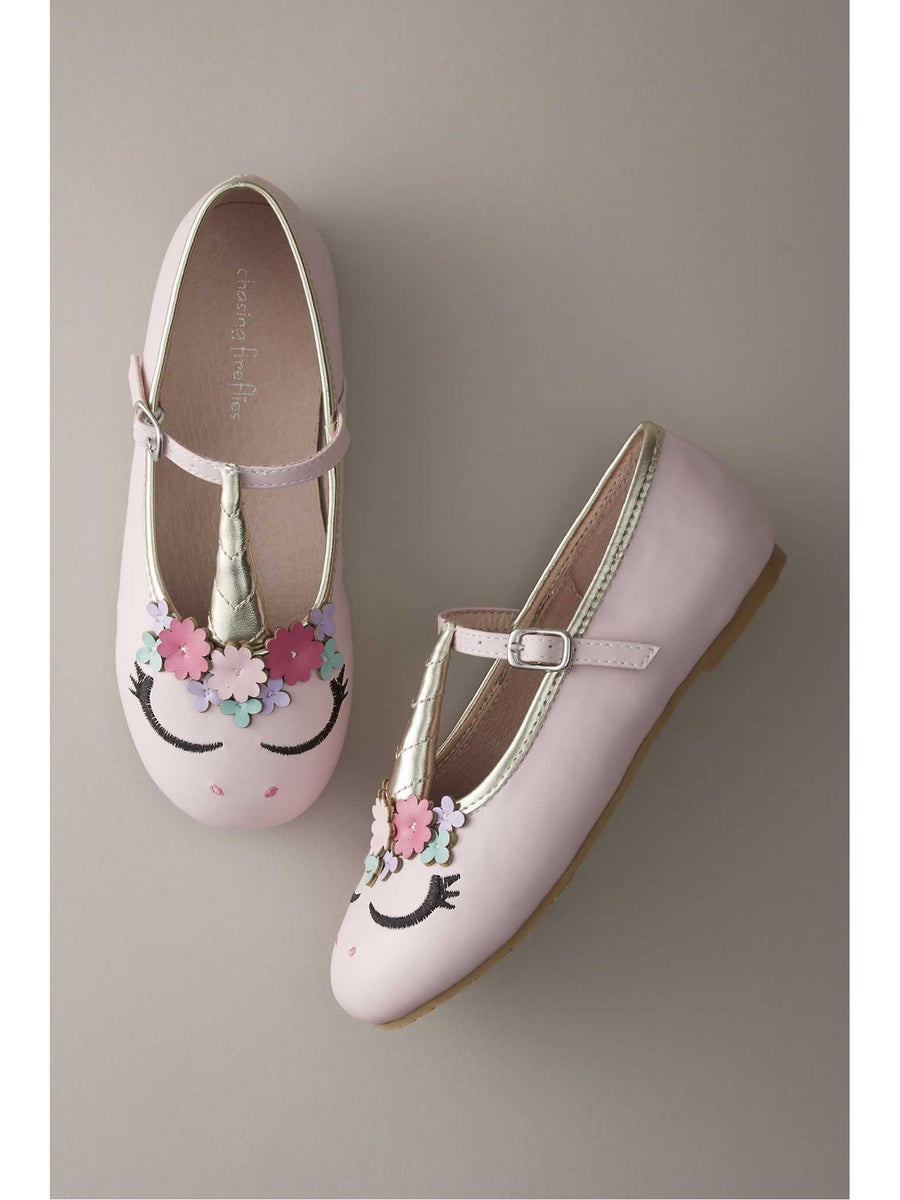 Girls Pastel Unicorn Flats