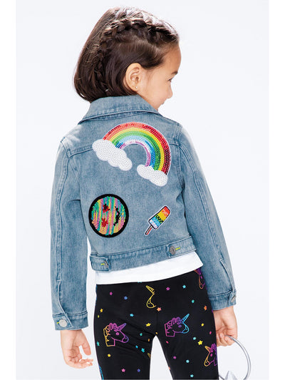 Girls Patches on Parade Denim Jacket  dnm alt1