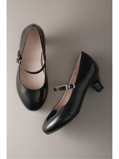 Girls Patent Kitten Heel Mary Janes