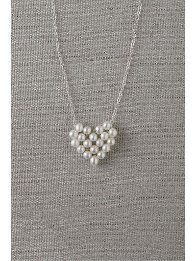 Girls Pearl Heart Necklace