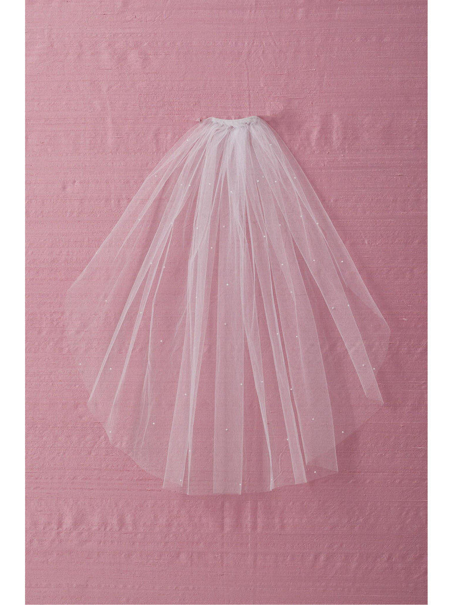 Girls Pearl-Sprinkled Veil