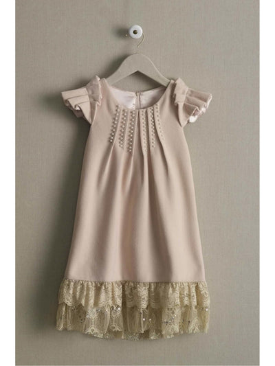 Girls Pearls & Lace Dress