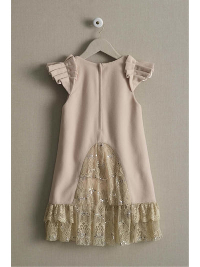 Girls Pearls & Lace Dress  cre alt2