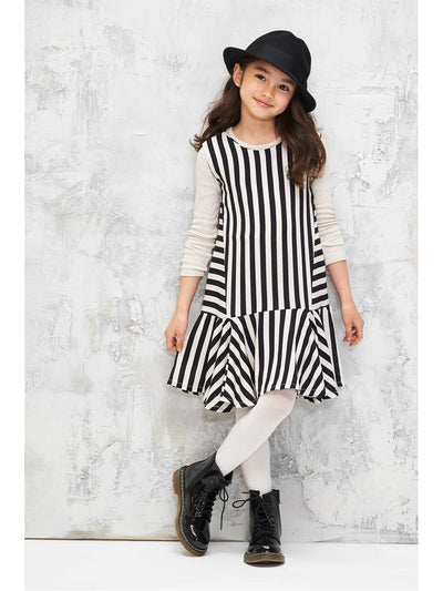 Girls Piano Stripe Dress  bla alt1