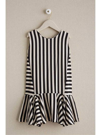 Girls Piano Stripe Dress  bla alt2