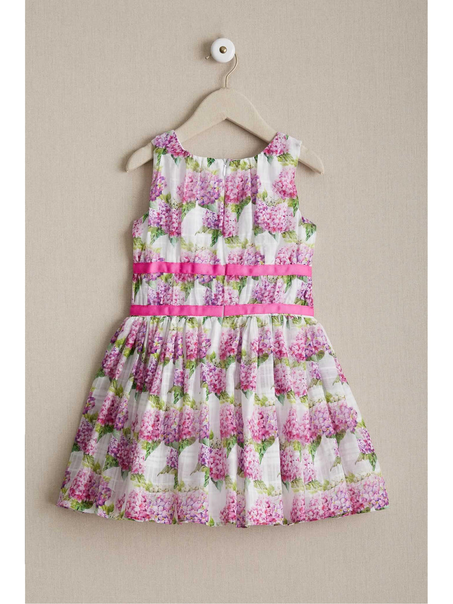 Girls Pink Hydrangea Dress