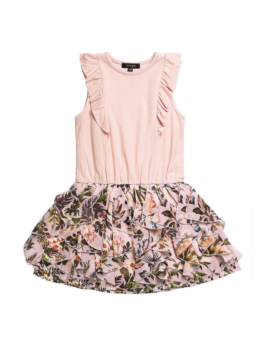 Girls Pink Paradise Dress