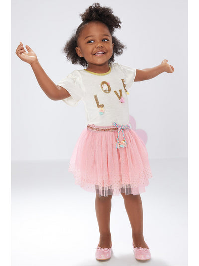 Girls Pink Parfait Tutu Skirt  pink alt1