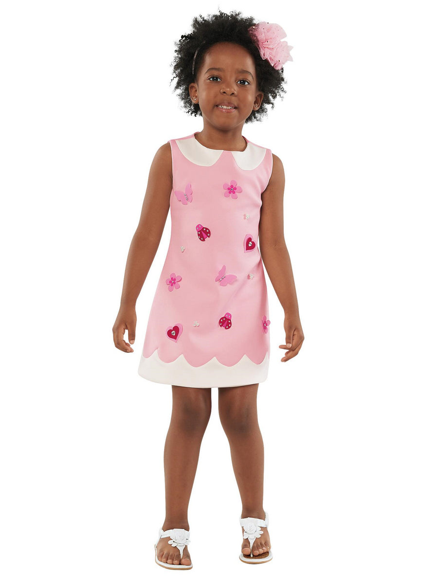 Girls Pink Pearls & Petals Dress