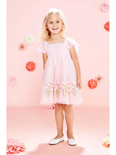 Girls Pink Sweet Pea Dress