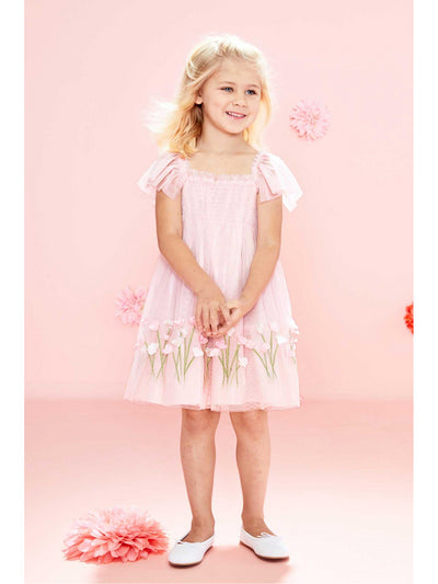 Girls Pink Sweet Pea Dress  pink alt1