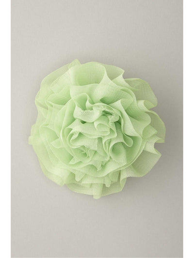 Girls Pleated Chiffon Flower Hairclip  gre 1