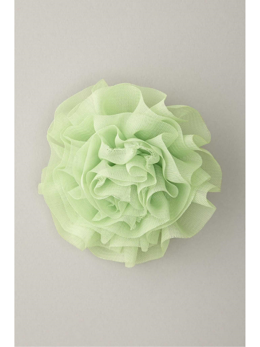 Girls Pleated Chiffon Flower Hairclip