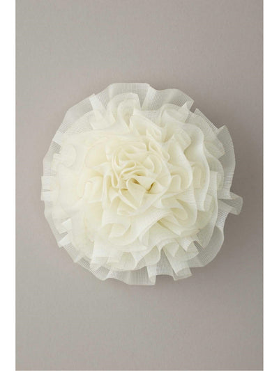 Girls Pleated Chiffon Flower Hairclip  ivo 1