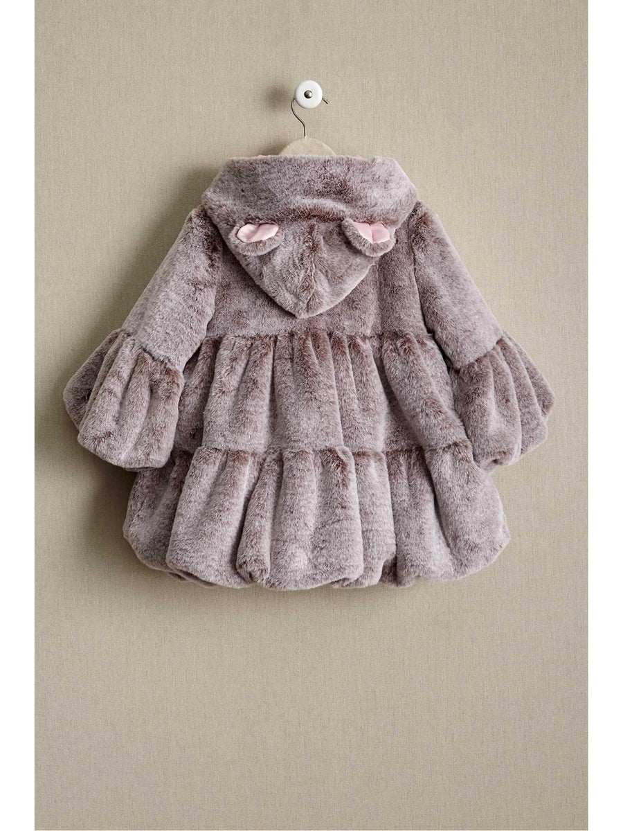 Girls Plush Bear Coat