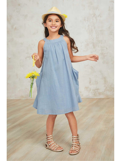 Girls Pocket Swing Dress
