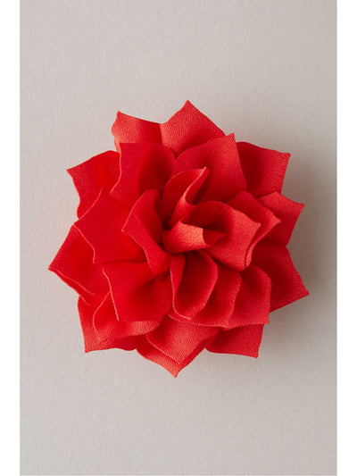 Girls Poinsettia Hairclip  red 1