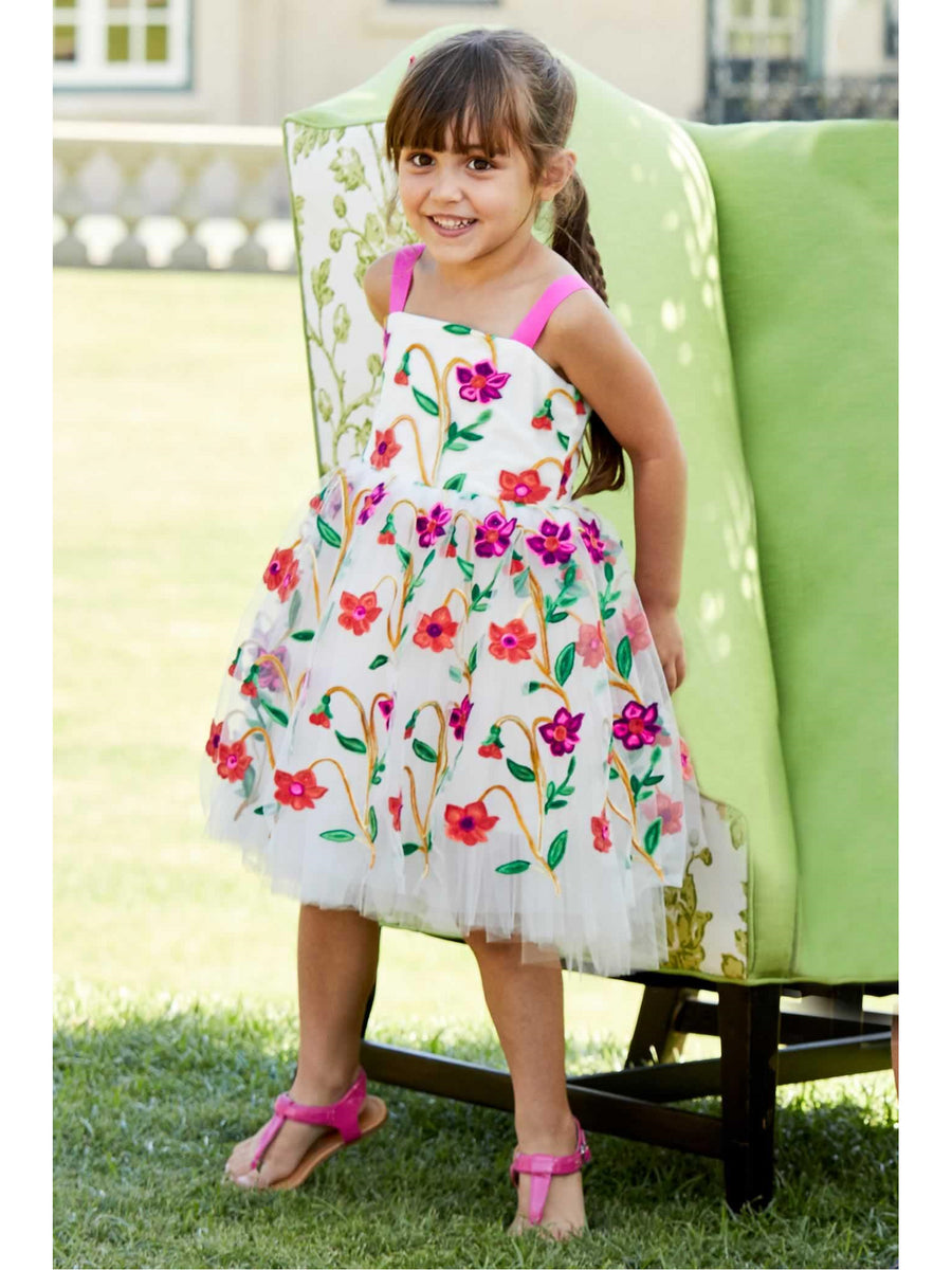 Girls Pop Flowers Dress