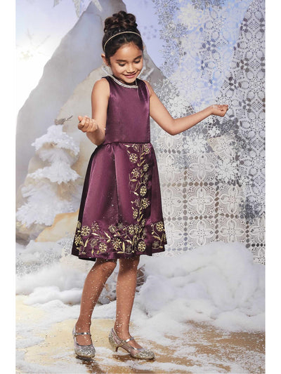 Girls Portrait Dress  pur alt1